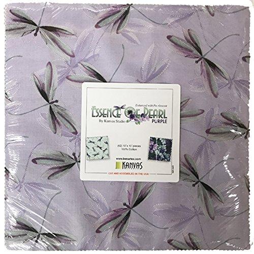 Essence of Pearl Purple Layer Cake 42 10-inch Squares Benartex Fabrics