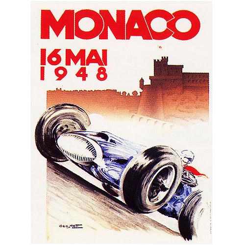 "Trademark Fine Art ""Monaco 1948"" Canvas Art by George Ham"
