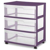 Sterilite Wide 3 Drawer Cart