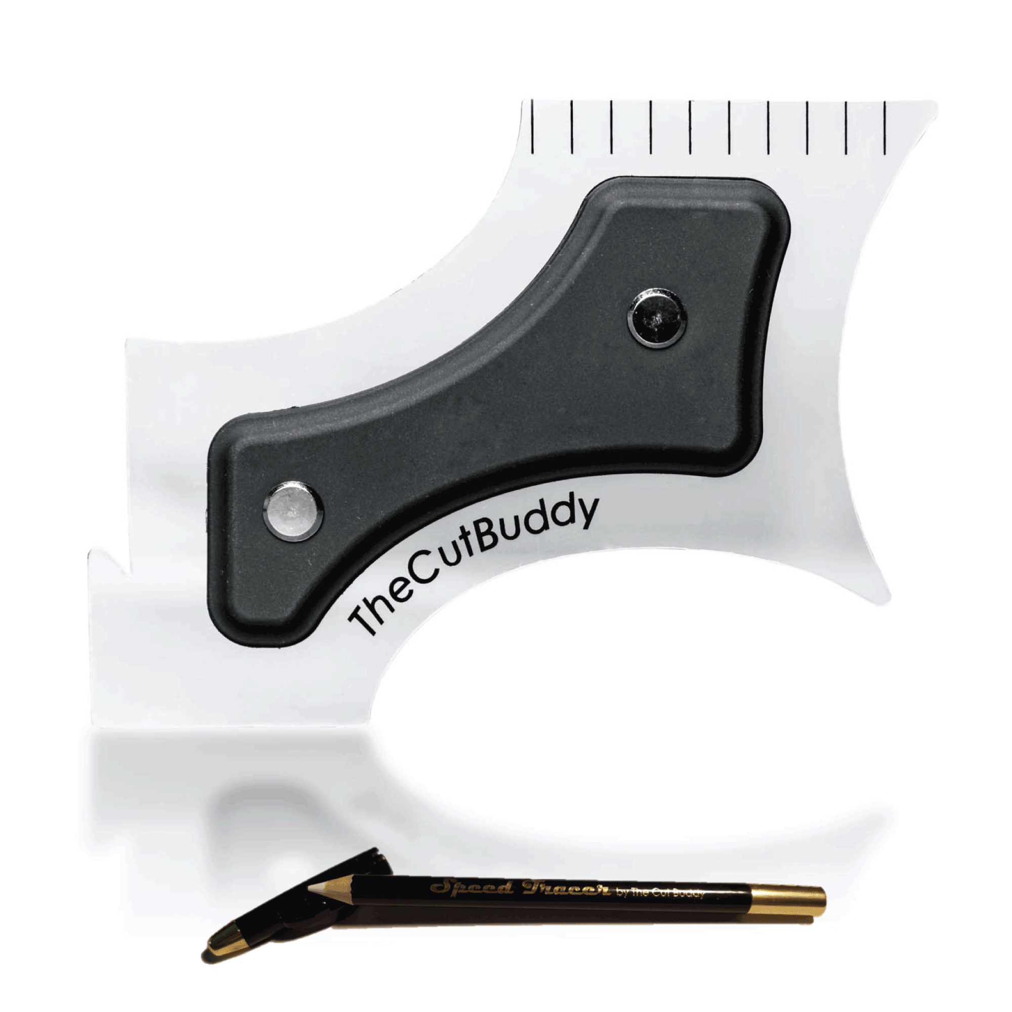 The Cut Buddy - Multiple Curve Beard Shaping Tool and Haircut Guide Template