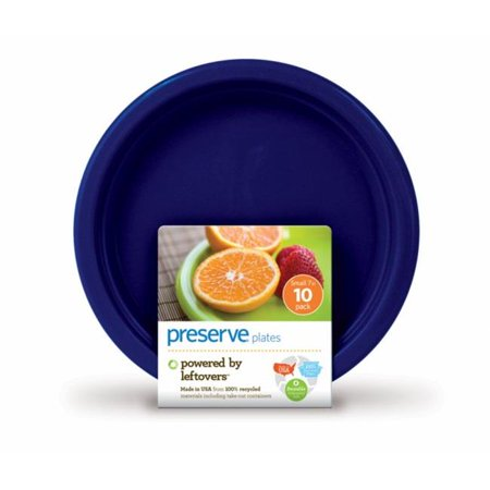 Preserve 1210137 Plates  Reusable  Midnight Blue  Small  10 Pack  7 in - 10