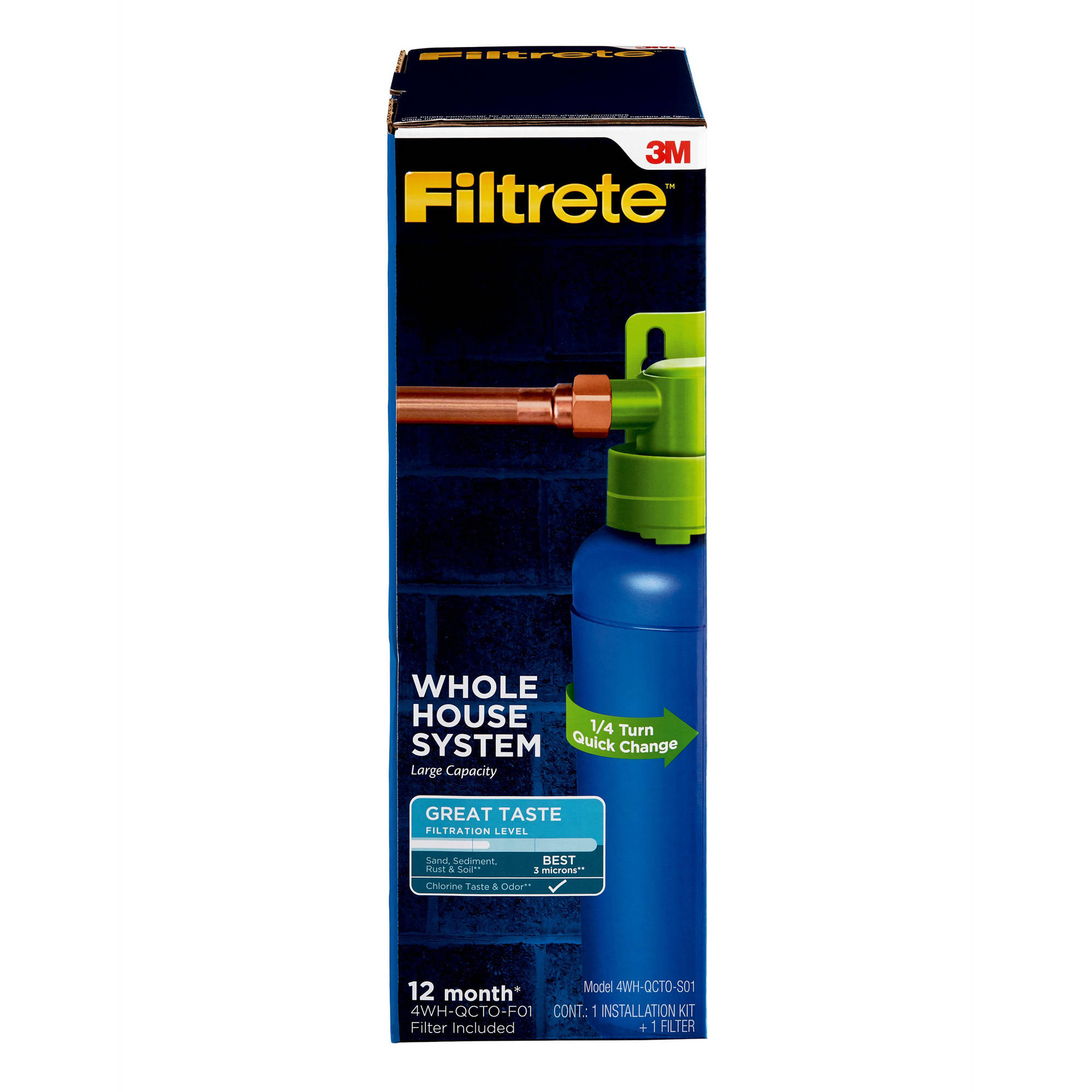 "Filtrete"" Quick Change Whole House System, Large Capacity, Standard Filtration (sediment, CTO)"