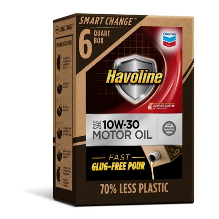 Havoline SMART CHANGE® Motor Oil 10W-30, 6qt (Havoline Tc W3 2 Cycle Motor Oil)