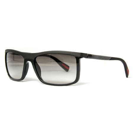 604bea9c05 Prada - Prada SPS 51P 1BO-0A7 Linea Rossa Black Demi Shiny Rectangular  Men s Sunglasses - Walmart.com