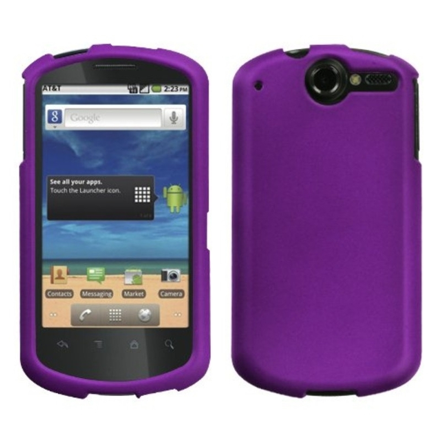 Insten Grape Phone Case (Rubberized) for HUAWEI: U8800 (Impulse 4G)