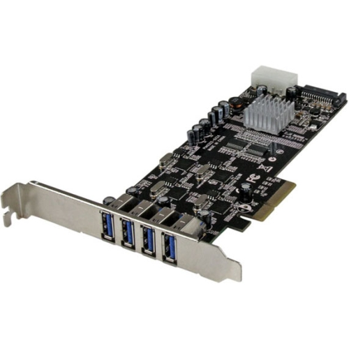 StarTech 4-Port PCI Express (PCIe) SuperSpeed USB 3.0 Card Adapter with 4 Dedicated 5Gbps Channels