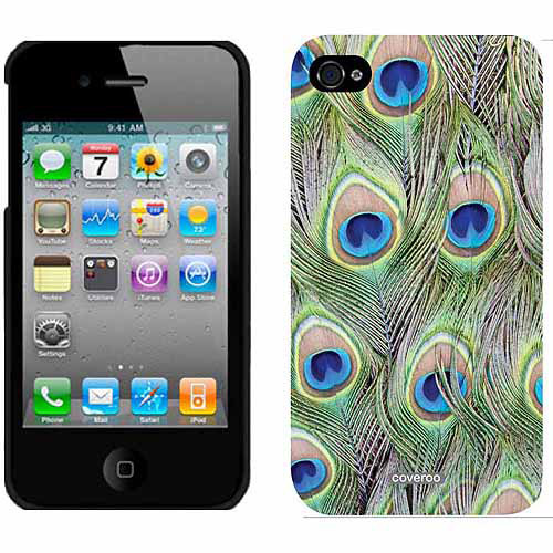 Peacock Feather Design on Apple iPhone 4/4s Thinshield Snap-On Case by Coveroo
