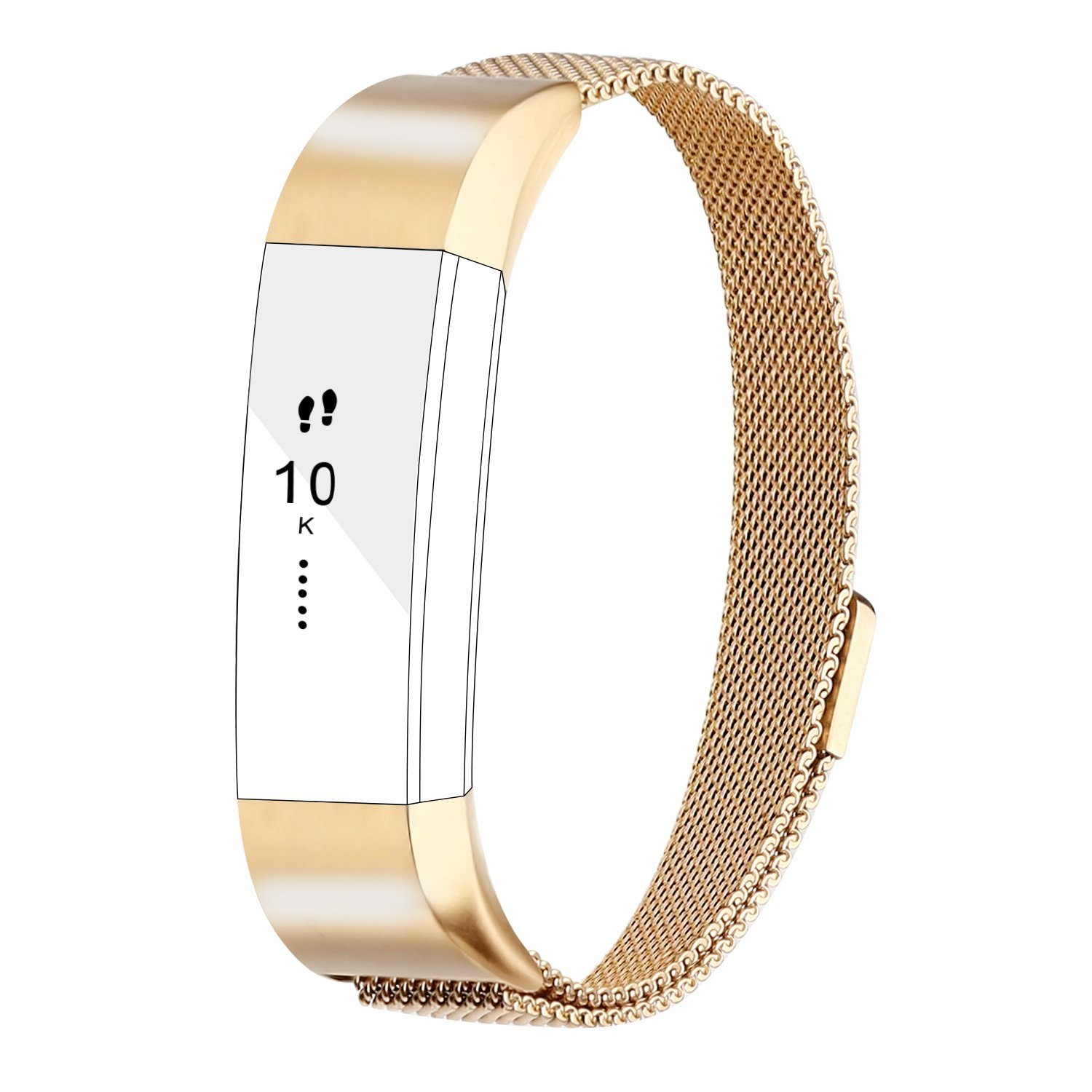 For Fitbit Alta Bands Alta HR Bands, Replacement Accessories Milanese Loop Stainless Steel Metal Bracelet Strap with Magnet Lock for Fitbit Alta HR Wristband-Silver