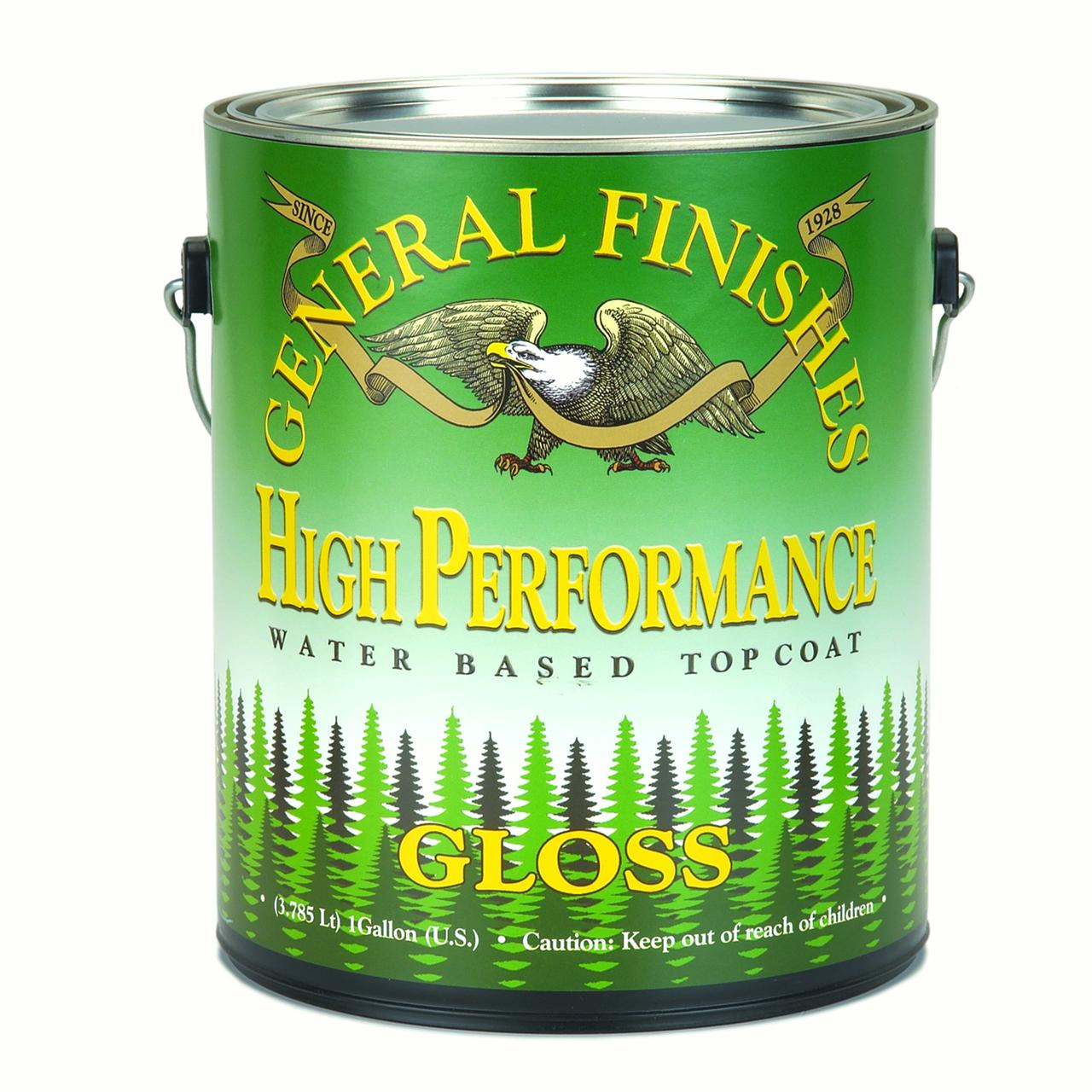 General Finishes, High Performance Polyurethane Topcoat, Gloss, Gallon