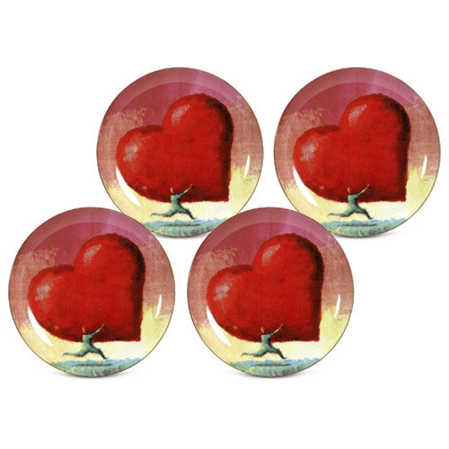 PS Collection All Heart 8'' Dessert / Salad Plate (Set of 4)