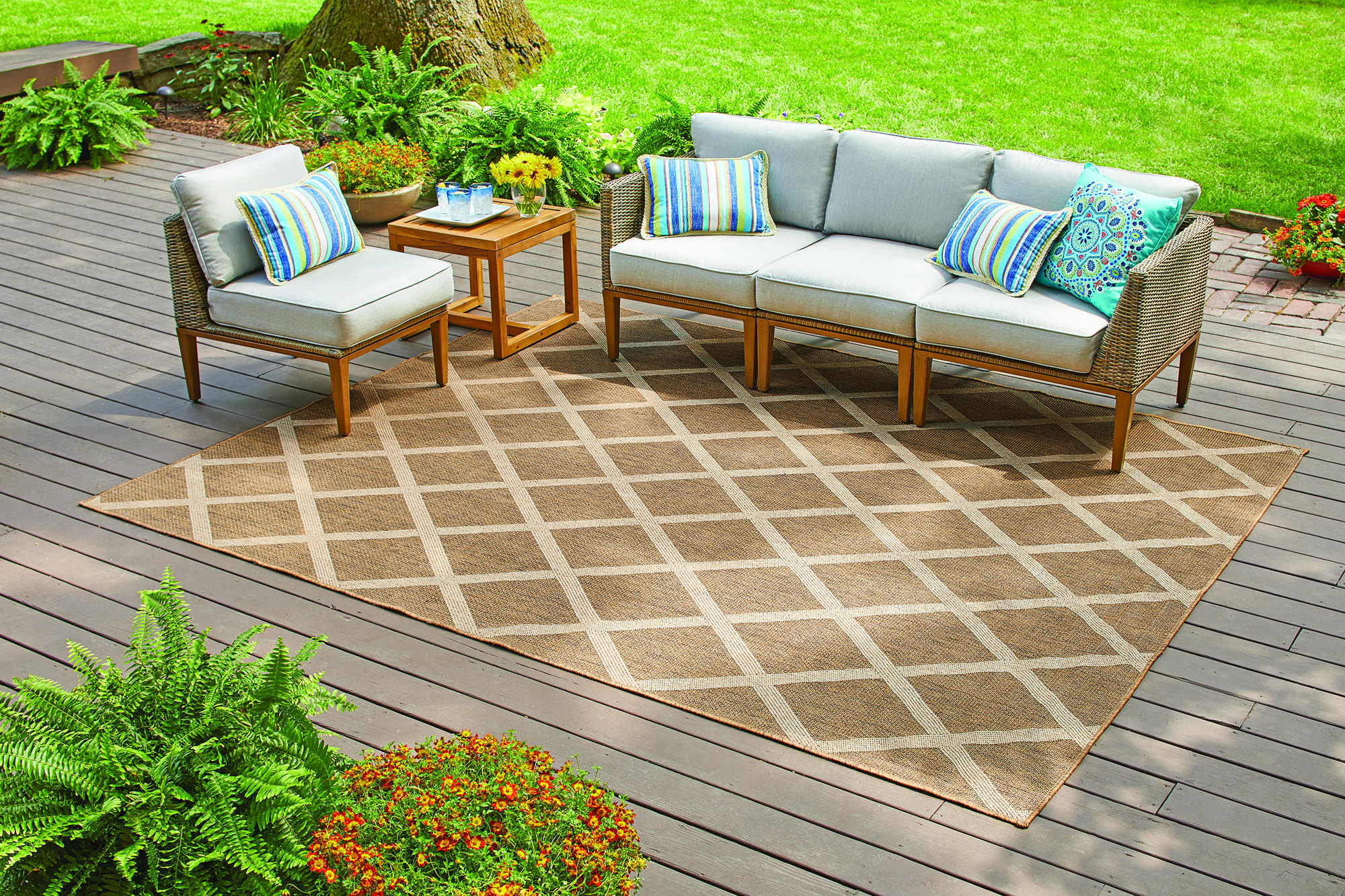 Ordinaire Better Homes U0026 Gardens Colebrook Natural Diamonds Indoor/Outdoor Area Rug