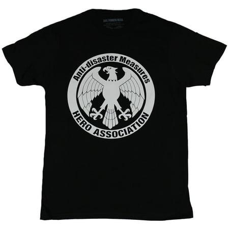 One Punch Man Mens T-Shirt - Anti-diaster Measures Hero Association Eagle Seal ()