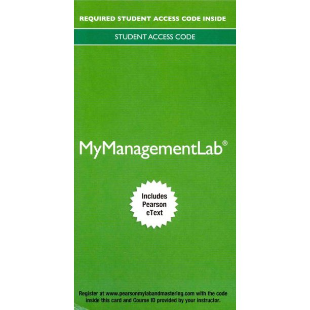2014 Mylab Management with Pearson Etext -- Access Card -- For Management: A Focus on Leaders Hardcover