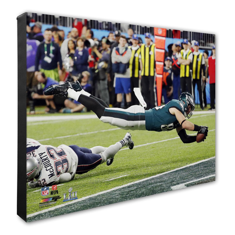"Zach Ertz Philadelphia Eagles Super Bowl LII Champions Game Winning Touchdown 16"" x 20"" Canvas - No Size"