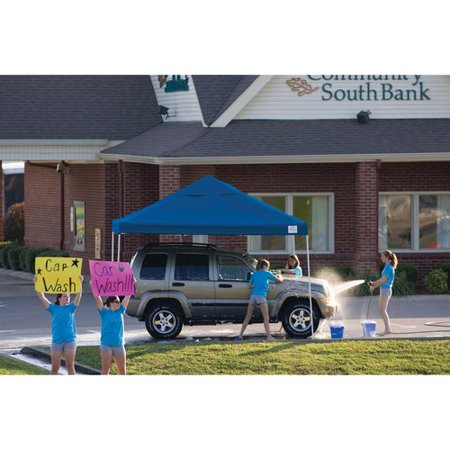 12' x 12' Pro Pop-up Canopy Straight Leg, Blue Cover
