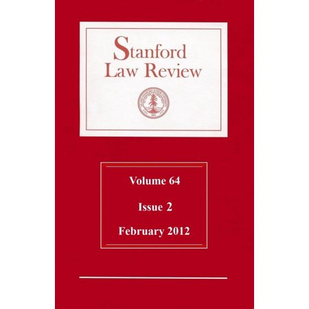 Stanford Law Review: Volume 64, Issue 2 - February 2012 - eBook A leading law journal features a digital edition as part of its worldwide distribution, using quality ebook formatting and active links. This current issue of the Stanford Law Review (Feb. 2012) contains studies of law, economics, and social policy by recognized scholars on diverse topics of interest to the academic and professional community.Contents for this issue include:National Security Federalism in the Age of TerrorBy Matthew C. WaxmanIncriminating ThoughtsBy Nita A. FarahanyElective Shareholder LiabilityBy Peter Conti-BrownNote, Harringtons Wake: Unanswered Questions on AEDPAs Application to Summary DispositionsBy Matthew SeligmanComment, Boumediene Applied Badly: The Extraterritorial Constitution After Al Maqaleh v. GatesBy Saurav Ghosh