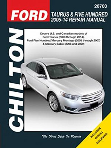 ford taurus five hundred chilton repair manual 2005 2014 rh walmart com Ford F-150 Owner's Manual 2005 Ford Freestar Owners Manual PDF
