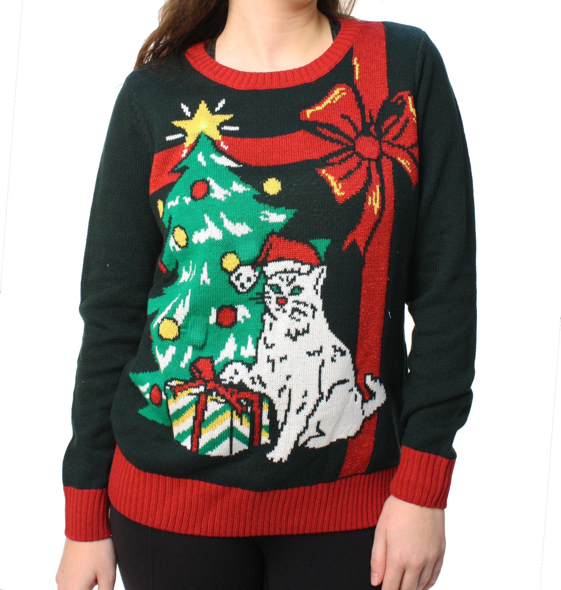 Ugly Christmas Sweater Ugly Christmas Sweater Womens Grumpy Cat