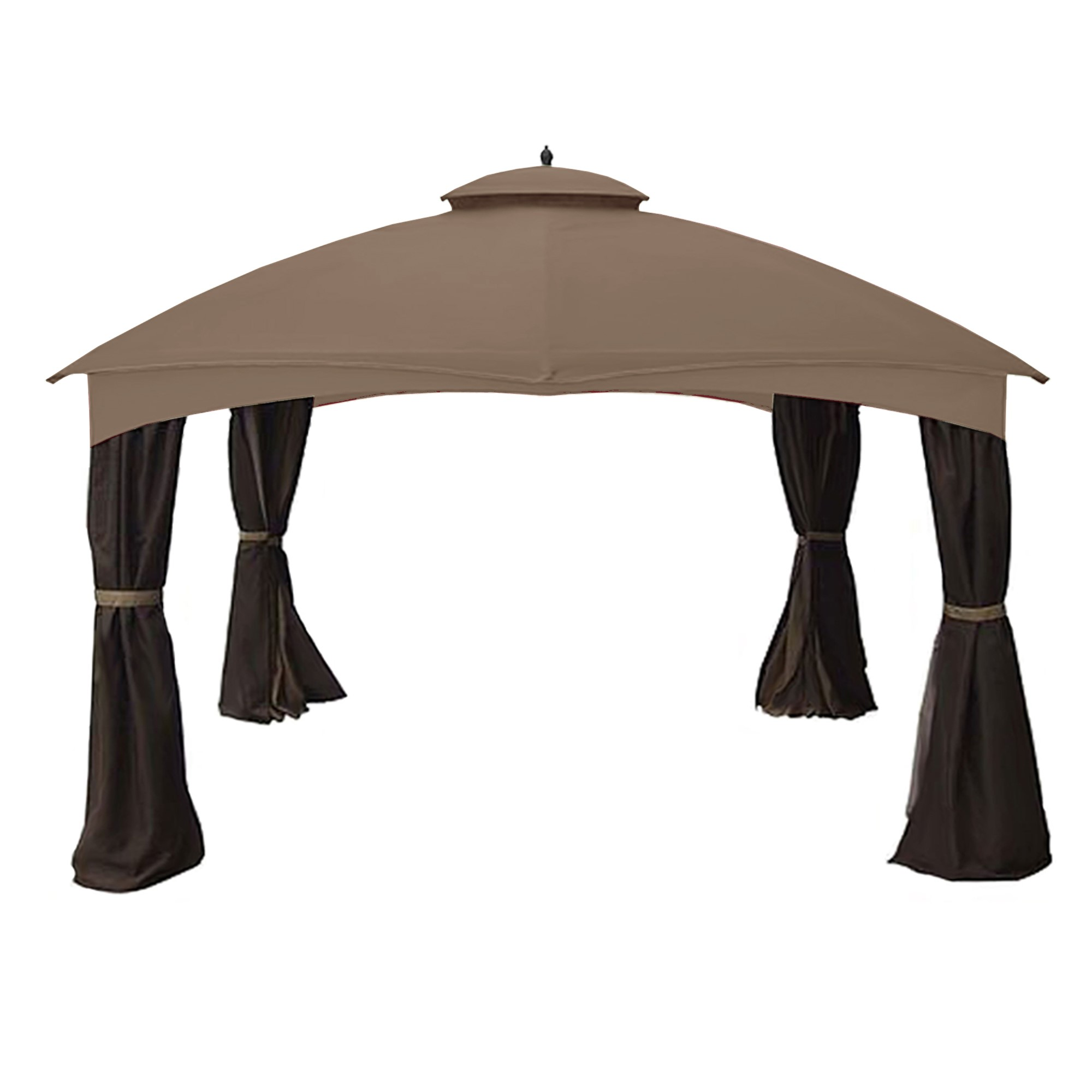 Garden Winds Replacement Canopy Top Cover for the Allen Roth 10 x 12 Gazebo - Nutmeg