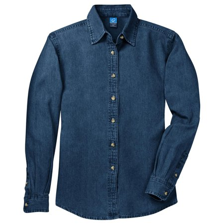 Port & Company Women's Long Sleeve Value Denim Shirt ()