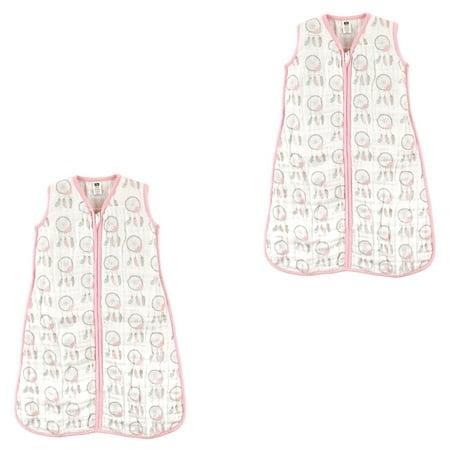 online retailer 6e82d d614d Hudson Baby Boy and Girl Muslin Sleeping Bag 2 Pack, Dream Catchers, 6-12  Months