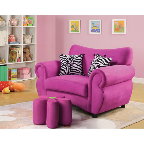 Lucy Microfiber Youth Chair, Pink