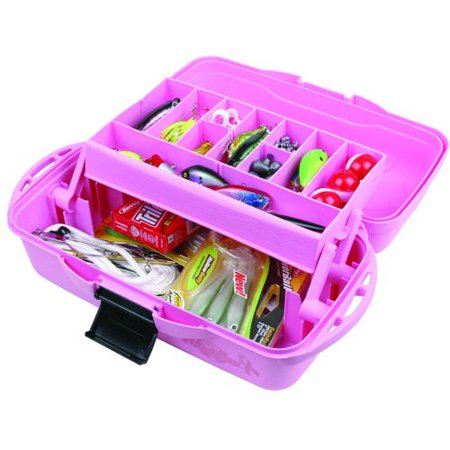 flambeau pink ribbon 1 tray tackle box