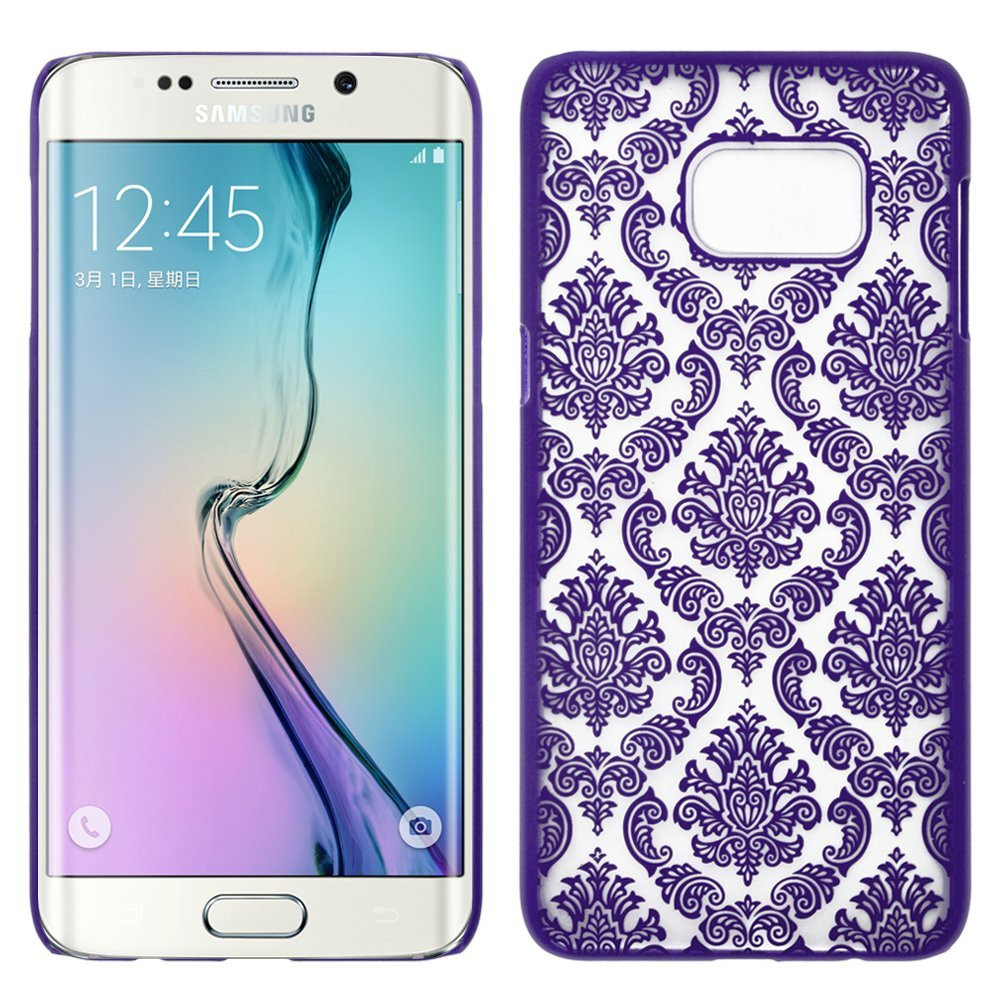 Samsung Galaxy S7 Damask Vintage Case, Ultra Slim Case Cover for Galaxy S7 - Black