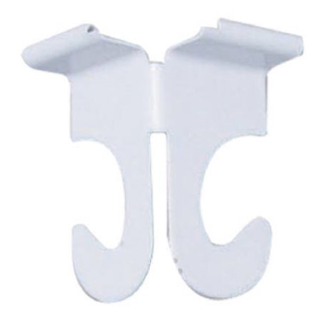 Image of 2Pk Wht Ceil Track Hook, Pack of 6