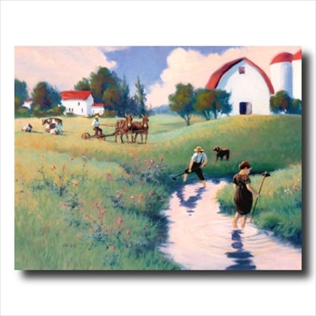 Amish Man Woman Dog Cow Horse Wall Picture Art Print](Amish Man)