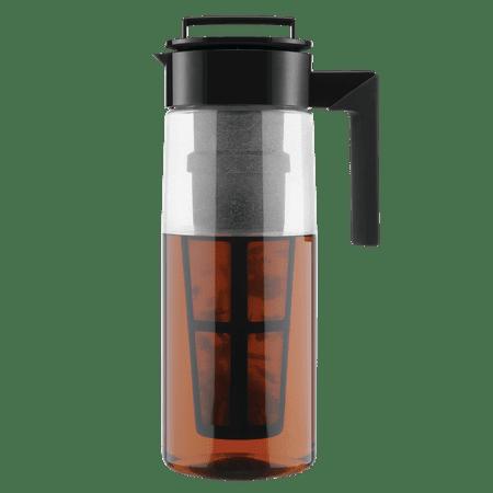 Takeya Flash Chill Iced Tea Maker with Airtight Lid, 2qt, Black