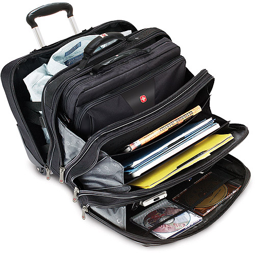 Swiss Gear 'Patriot' Rolling Laptop Computer Case, Black by SWISSGEAR