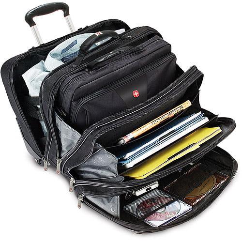 Swiss Gear 'Patriot' Rolling Laptop Computer Case, Black - Walmart.com