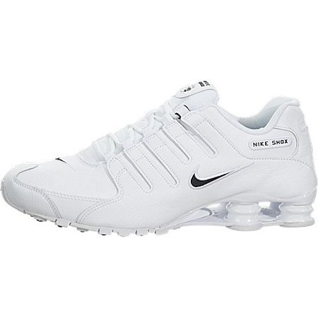online retailer 64207 e26c8 Nike Men's Shox NZ Running Shoe White - 7 D(M) US