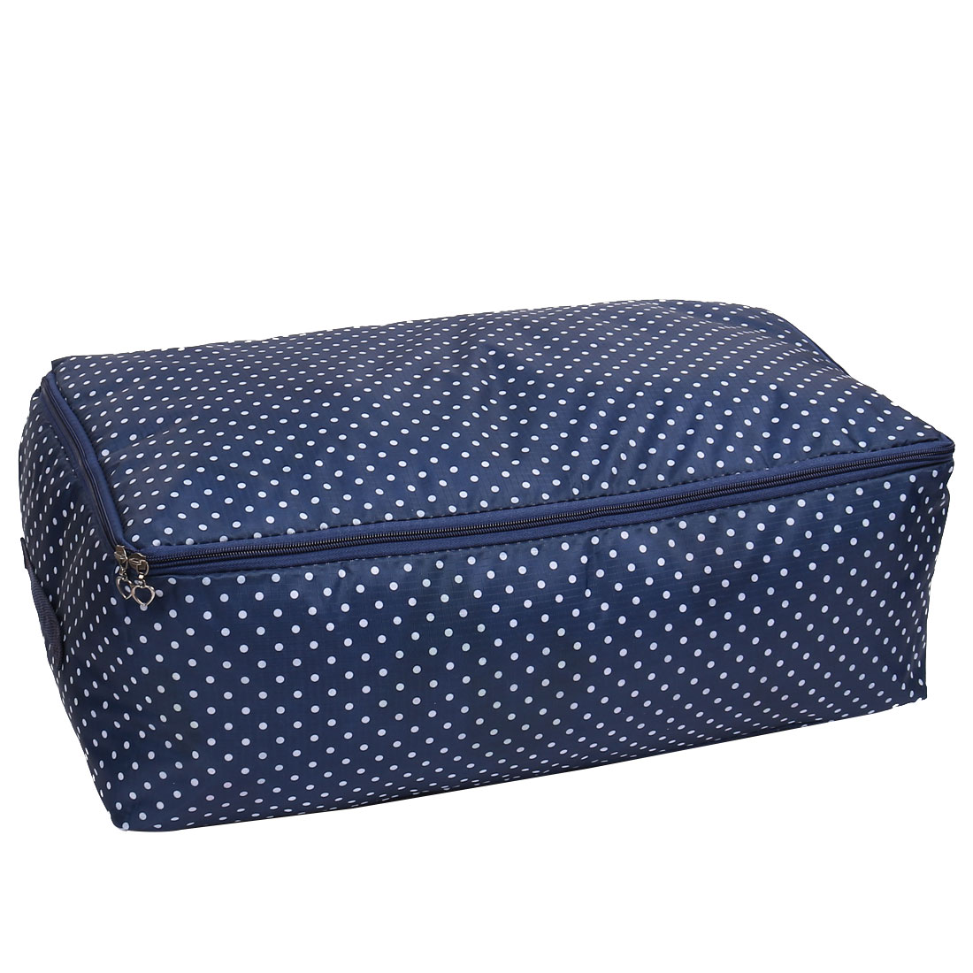 Dots Printed Clothes Quilt Sorting Box Storage Bag Organizer Navy Blue