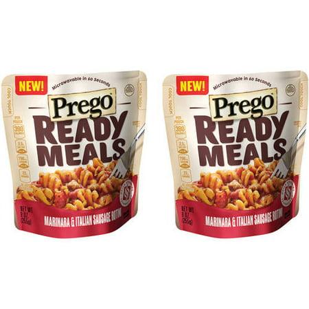 (2 Pack) Prego Ready Meals Marinara & Italian Sausage Rotini, 9 oz.
