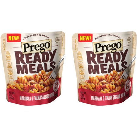 (2 Pack) Prego Ready Meals Marinara & Italian Sausage Rotini, 9 oz. (15 Min Meal)