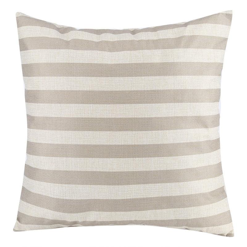 18x18 Inch Cotton Linen Square Throw Pillow Case Decorative Durable Cushion Slipcover Home Decor Sofa
