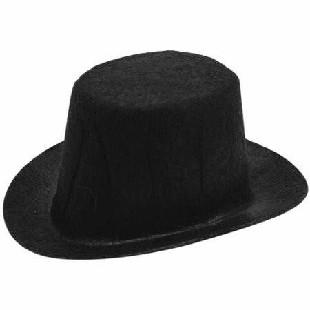Darice Stiffened Felt Top Hat, Black - Top Hat Felt