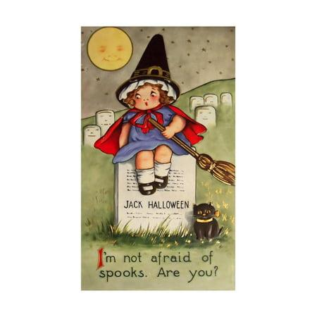 Vintage Halloween Collector (Halloween Little Girl Cemetary Print Wall Art By Vintage Apple)