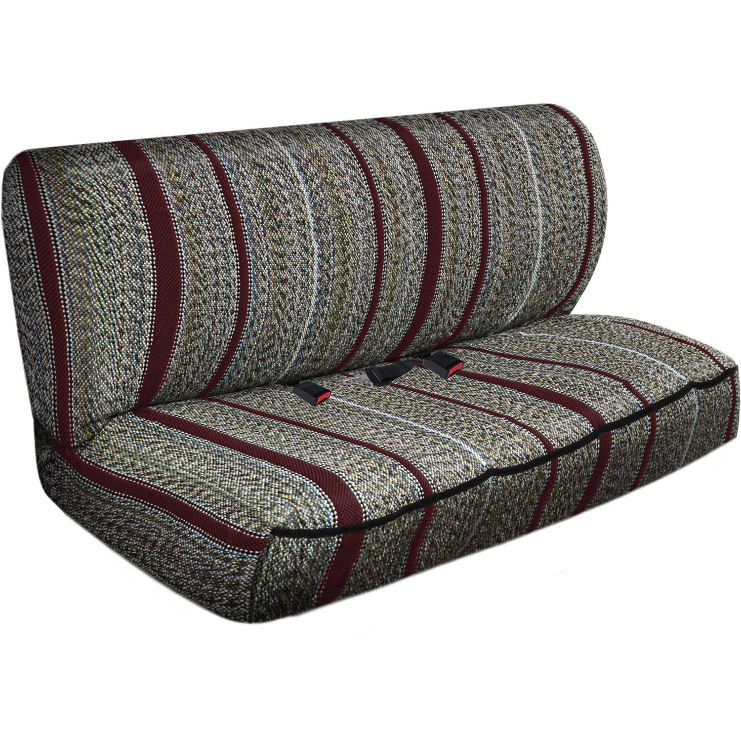 OxGord 2-Piece Full Size Heavy Duty Saddle Blanket Bench Seat Covers, Burgundy