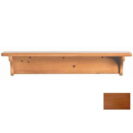 Little Colorado 1230HONC Wall Shelf without Pegs - No Cutout in Honey Oak (Honey Oak Wall)