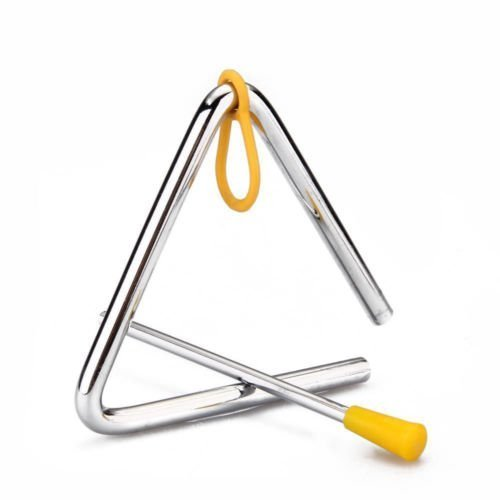 Freedi Musical Instruments Triangle 4''Angle Iron Preschool Music Triangle
