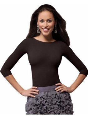 c65233873 Product Image SPANX 978 On Top and In Control Three-Quarter Sleeve Boatneck Shaping  Shirt Top