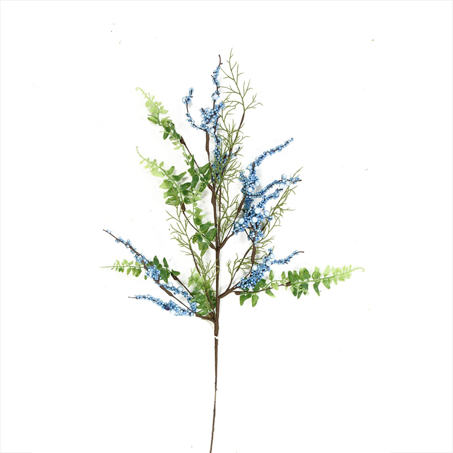 29'' Blue Green and Brown Decorative Artificial Berry Pick