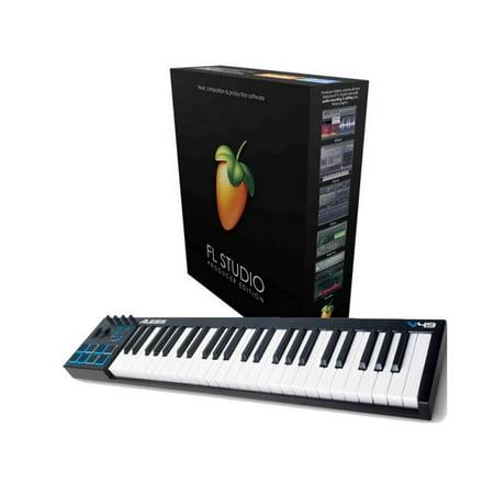 Alesis V49 USB Pad/Keyboard Controller With FL Studio 20 Producer Edition Download Card for (Fl Studio 10 Producer Edition Reg Key)