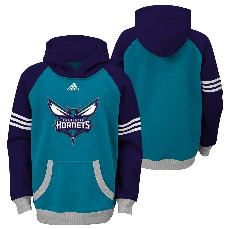 "Charlotte Hornets Youth NBA Adidas ""Robust"" Pullover Hooded Sweatshirt"