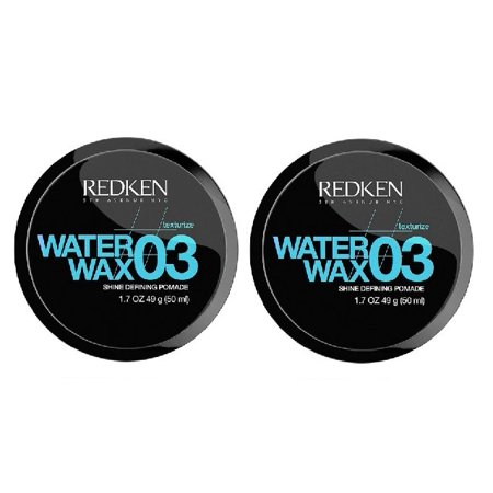 Water Wax 03 Hair Shine Defining Pomade 1.7 oz by REDKEN (Pack of 2)