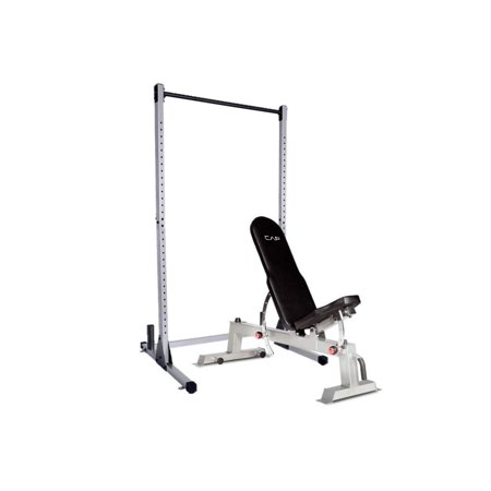 - CAP Barbell Strength Power Rack Exercise Stand Deluxe Utility Weight Bench Set