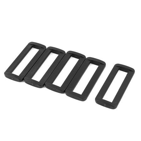 5 Pcs Black Plastic Bag Bar Slides Buckles for 50mm Webbing Strap - image 1 of 1